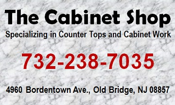 The Cabinet Shop: 732-238-7035; Custom Cabinet . Counter Tops . Salon Furniture; 4960 Bordentown Ave, Old Bridge, NJ 08857